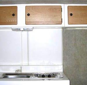 Trillium Trailer cabinets